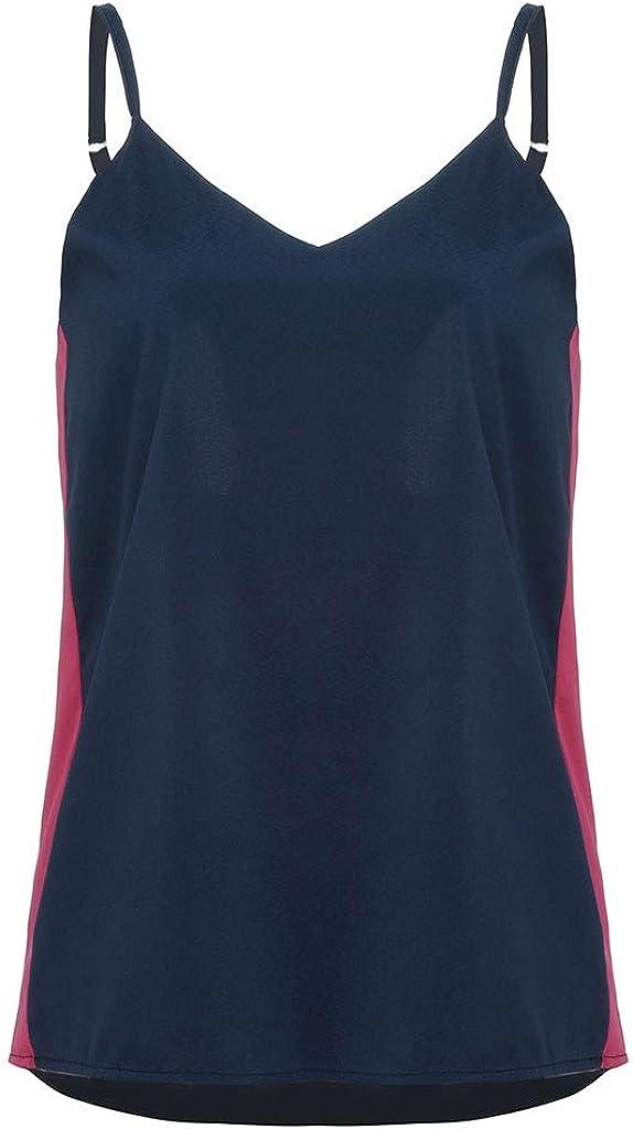Anxinke Women Fashion Spaghetti Strap Soft Cami Tank Shirts