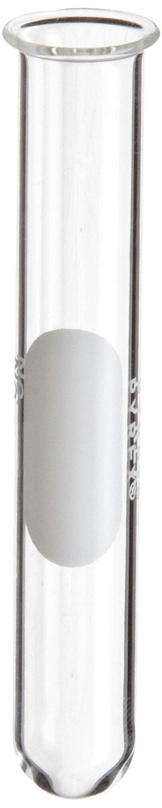 Corning Pyrex Borosilicate Glass Cylindrical Beaded Rim Test Tube, 20ml Capacity (Pack of 72)