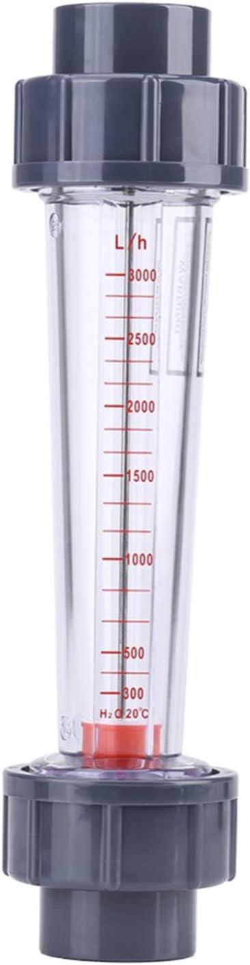 SODIAL Lzs-25 Medidor De Flujo Tipo De Tubo De Plástico 300-3000L/H Rotámetro Del Agua Caudalímetro Líquido Herramientas De Medición para Luz Química