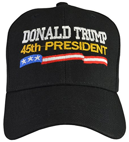 Donald Trump 45th President 100% Polyester Hat Black