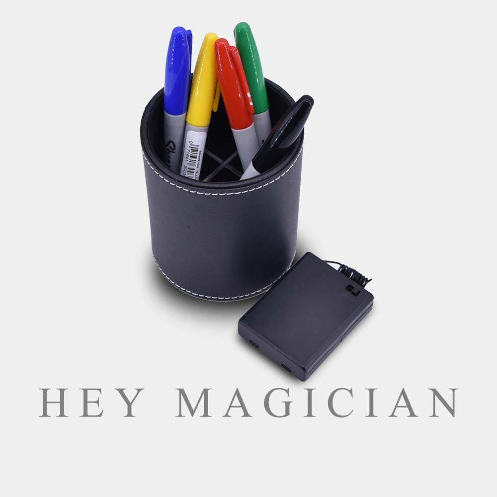 Color Pen Prediction with Leather Pen Holder Mentalism Magic Tricks Amazing Stage Magic Funny Close Up Magic Illusions Accessory Pen Magic for Magician