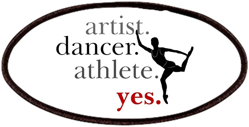 Athlete Yes Artist CafePress Patches Patch 4x2in Printed Novelty Applique Patch Dancer