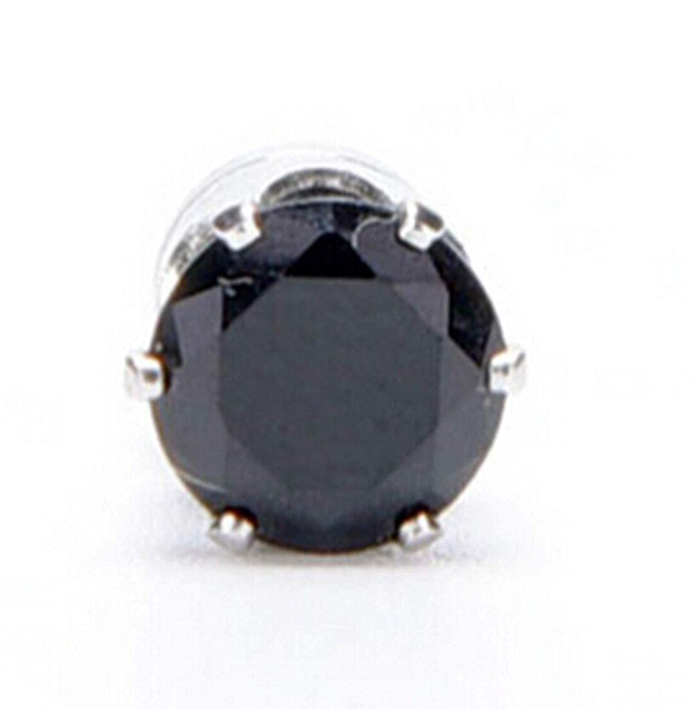 EveyWell Nice White Black Magnetic Magnet Ear Stud Easy Use Crystal Stone Stud Earrings
