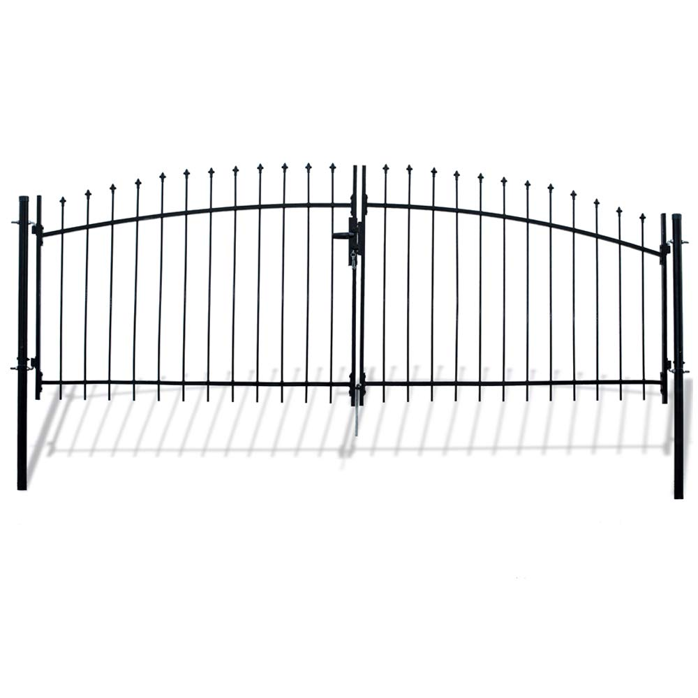 ALEKO DWGD11X5 DIY Arched Steel Dual Swing Driveway Gate Kit with Lock Athens Style 11 x 5 Feet by ALEKO (Image #1)
