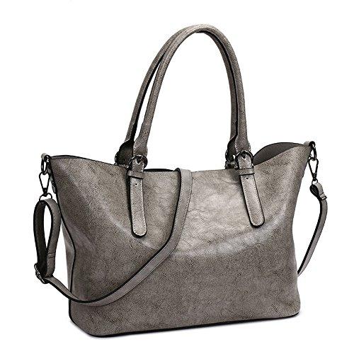 Primavera Bolso La Moda Confortable Gris Nueva Y Bolso Impermeable Gray Bolsos Moda Grande Meaeo fUYpAA