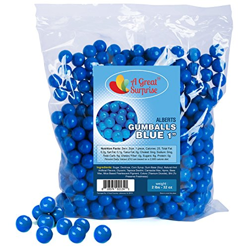 Gumballs in Bulk - Blue Gumballs for Candy Buffet - Gumballs 1 Inch - Bulk Candy 2 LB]()