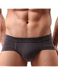 Solid Men Pouch Bulge Trunks Boxer Briefs Underpants Underwear Strings G-Strings