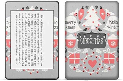 igsticker kindle paperwhite 第4世代 専用スキンシール キンドル ペーパーホワイト タブレット 電子書籍 裏表2枚セット カバー 保護 フィルム ステッカー 016377 クリスマス
