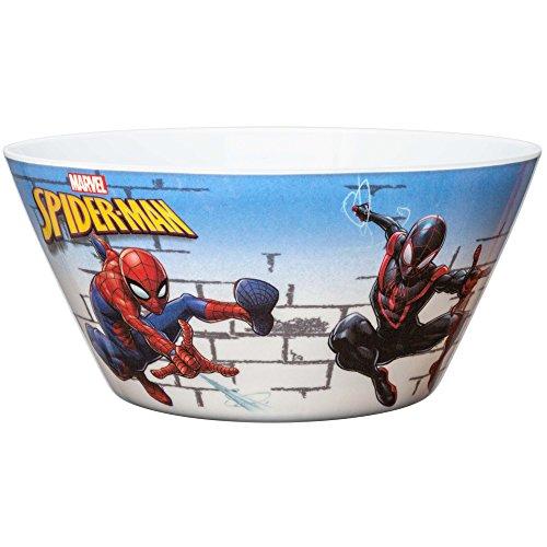(Zak Designs SDNU-0363 Marvel Comics Kid's Soup Bowls, 27 oz, Spider-Man)