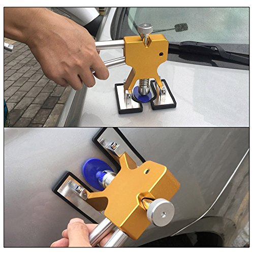 YOOHE Auto Paintless Dent Removal Tools Kit - Gold Dent Removal Kit Dent Puller with Pulling Tabs for Car Hail Dent Removal and Door Dings Dent Repair by YOOHE (Image #1)