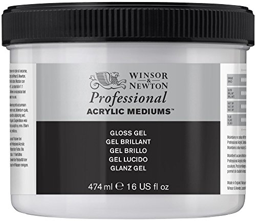 - Winsor & Newton Professional Acrylic Medium Gloss Gel, 474ml