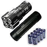 Bundle: Nitecore TM28 6000 Lumen Rechargeable Flashlight / Searchlight w/ NBP68HD Battery Pack