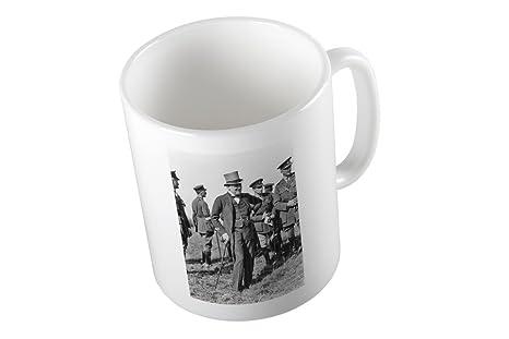 Taza con Winston Churchill con campo Mariscal Sir Henry Wilson y otros Blo.
