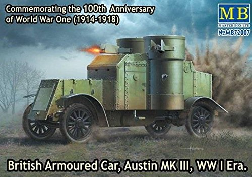 (Master Box Models 1/72 British Armoured Car Austin Mk.III WWI Era Vehicle Kit)