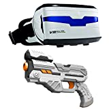 With VR real feel alien blasters, it's up to you to save earth from the impending invasion! you'll battle the evil aliens in VR with your Bluetooth blaster with 5 different levels, over 8 different alien classes, and 4 different weapons with ...