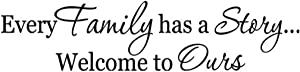 Hacaso Every Family Has A Story Bedroom Quote Decors Wall Saying Decals Quote for Home Wall Stickers Nursery Room Decor(1)