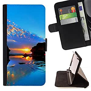 Jordan Colourful Shop - Sunset Beautiful Nature 98 For Apple Iphone 6 PLUS 5.5 - < Leather Case Absorci????n cubierta de la caja de alto impacto > -