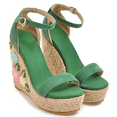 Green Donna Sandali 2 TAOFFEN Zeppa Alto YnIwqHBP