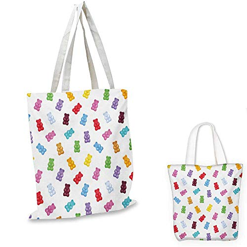 Kids easy shopping bag Vibrant Colored Gummy Bears Candies Delicious Jelly Sugary Snack Chewy Sweet Taste emporium shopping bag Multicolor. ()