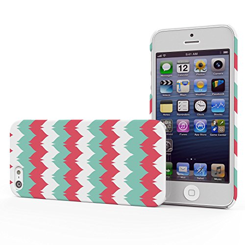 Koveru Back Cover Case for Apple iPhone 5S - Three colour Etsy pattern