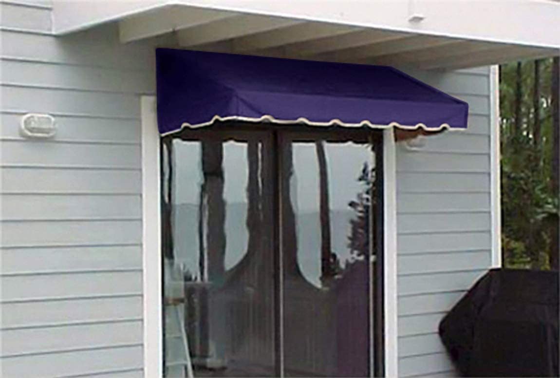 Window Awning or Door Canopy 6 Wide in Sunbrella Awning Canvas – Navy Blue