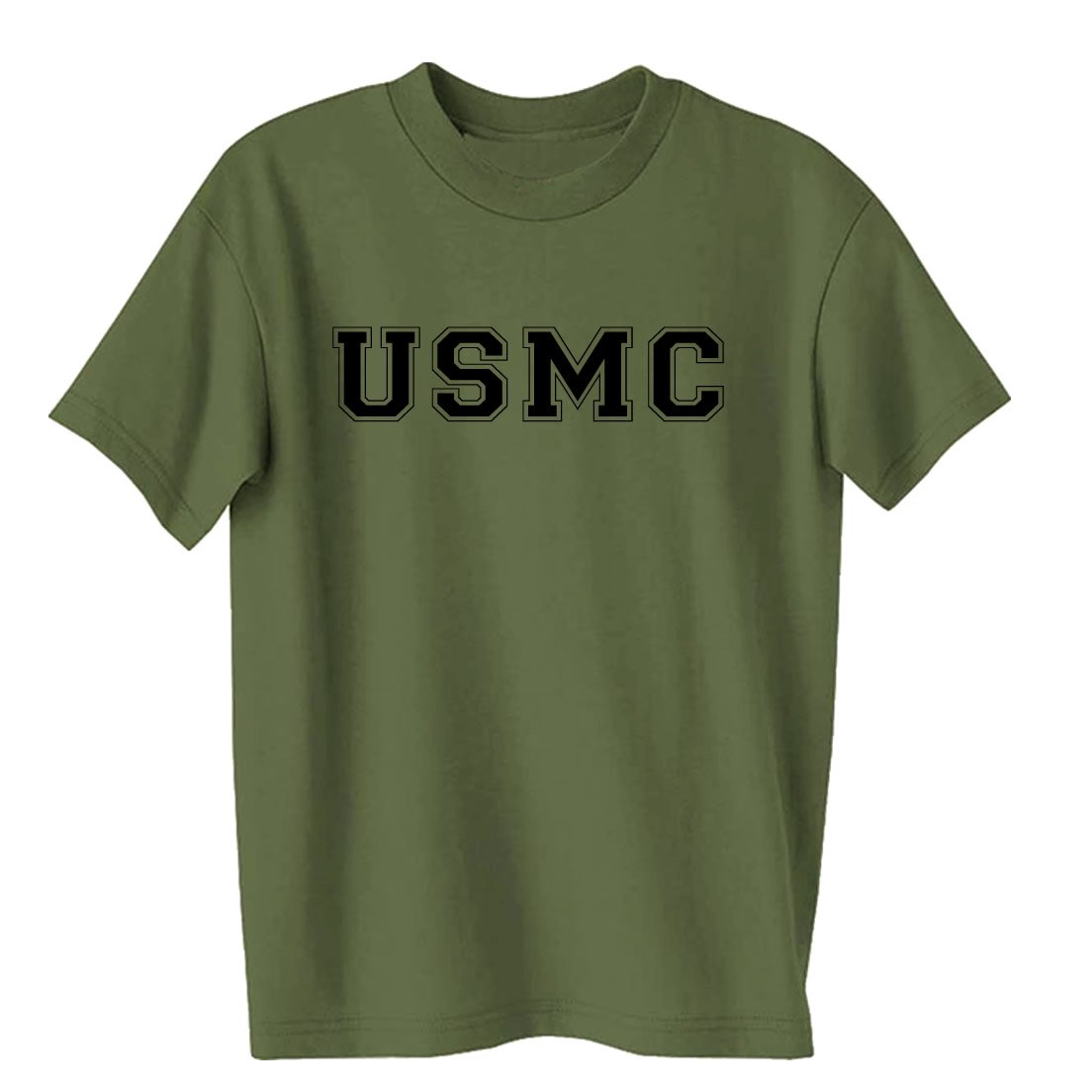 USMC Athletic Marines S/S T-Shirt in Military Green PA-1035