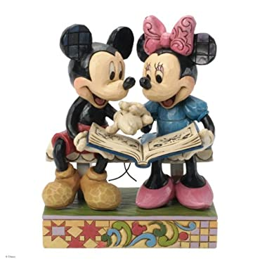 Jim Shore for Enesco Disney Traditions Mickey and Minnie 85th Anniversary Figurine, 6.5-Inch