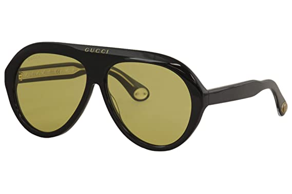Amazon.com: Gafas de sol Gucci GG 0479 S- 002, color negro y ...