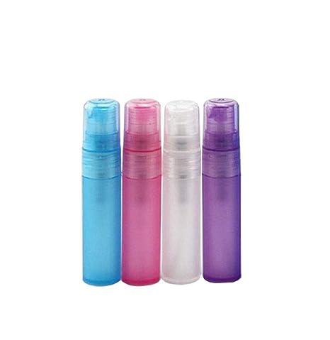 furnido 5 ml 10 ml colores Spray Botella Perfume lápiz portátil plástico líquido pulverizador vacío cosméticos