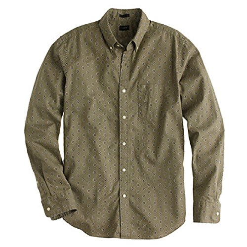 JCrew Men's Slim Secret Shirt in Dark Sage Foulard
