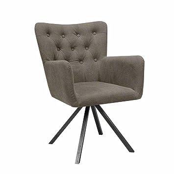 Pharao24 Esszimmer Sessel In Beige Stoff Gesteppt Amazon De Kuche