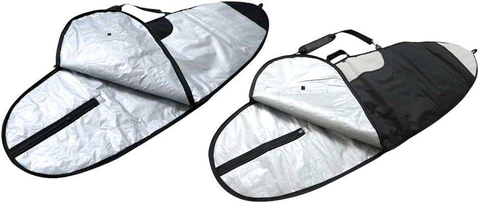 Prettyia サーフボードバッグ 旅行 サーフボード 保護バッグ 2個セット 持ち運びや旅行に便利