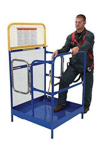 Vestil WP-3636-DD Steel Work Platform, 1000 lb Capacity, 36'' x 36'' with Double Doors, Powder Coat Blue, not for use in California by Vestil (Image #6)