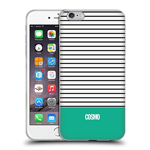 Official Cosmopolitan Teal 1 Stripes Collection Soft Gel Case for Apple iPhone 6 Plus / 6s Plus