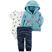 Carter's Baby Boys' 3 Piece Monster Print Cardigan Little Jacket Set 3 Months