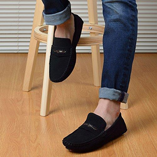 Icegrey Men's Moccasin Boots Black 92y7Yj