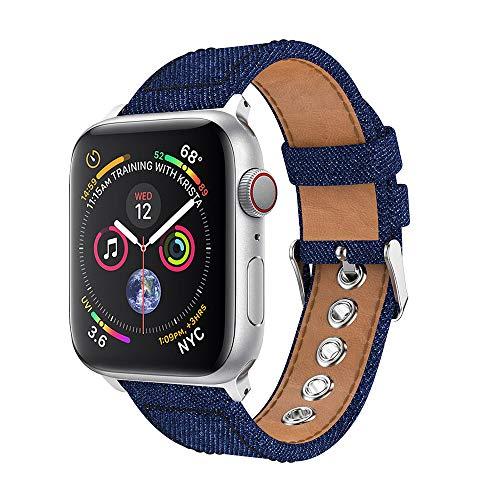 ❤️MChoice❤️New Denim Fabric Watch Bracelet Band Strap for Apple Watch Series 4 40MM ()