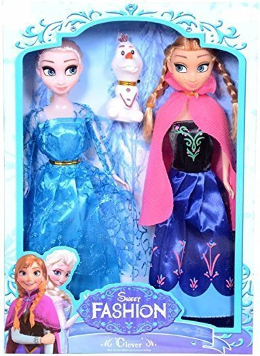BEAU STUTI Frozen Anna and Elsa Doll (12 Inches) Pack of 2