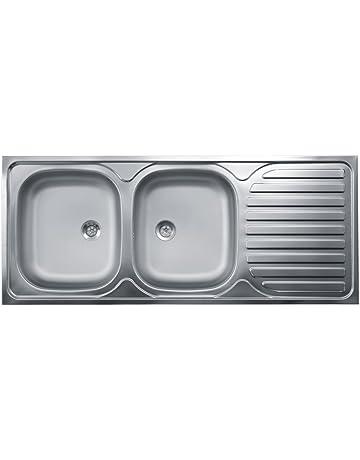 Lavello Cucina 90 Cm.Amazon It Lavelli Da Cucina Fai Da Te Vasca Singola Vasca Doppia
