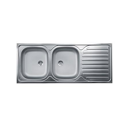 Lavello Cucina Due Vasche Con Gocciolatoio A Destra Acciaio ...