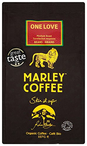 Marley Coffee Organic One Love Medium Roast Whole Bean Coffee Bag 227 g