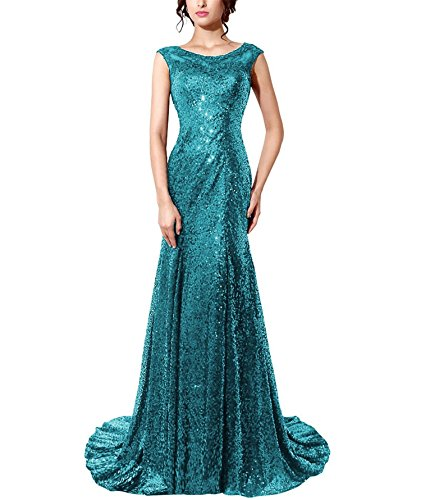 Evening Bess Long Dress Sequins Prom Mermaid Formal Gown Bridal s Women Green gxrqwCgz