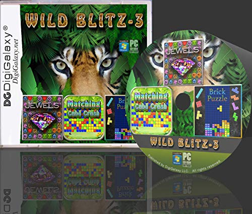 WildBlitz - Cube Crush, Jewel Blast, Brick Puzzle (Board Puzzle Game) (PC Game)(Windows10 compatible) (Puzzle Games For Computer)