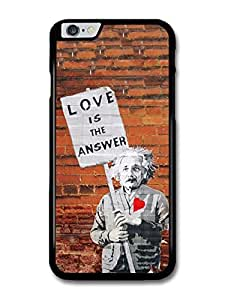 Love is the Answer Albert Einstein Wall Banksy Graffiti Quote case for iPhone 6 Plus