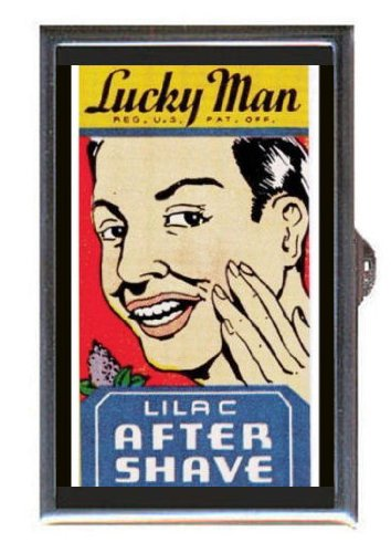 Lucky Man Retro Aftershave Guitar Pick or Pill Box USA Made (Aftershave Container compare prices)