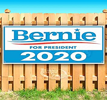 Many Sizes Available Bernie 2020 13 oz Heavy Duty Vinyl Banner Sign with Metal Grommets Advertising New Flag, Store