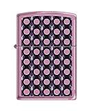 Zippo Playboy Polka Dots Pocket Lighter, Pink Matte
