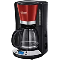 Russell Hobbs Colours Plus+ Flame Red Digitaal Filterkoffiezetapparaat Rood (incl. Glazen Kan), Programmeerbare Timer…