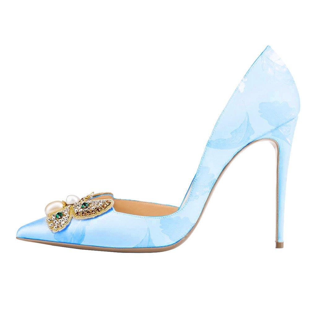 031309af73b ... FSJ FSJ FSJ Women Classic Wedding Shoes Rhinestone Pointed Toe D Orsay  Stiletto High Heel ...