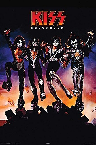 Buyartforless Kiss Destroyer 36x24 Music Art Print Poster Wall Decor Hard Rock Heavy Metal 4th Studio Album 1976]()